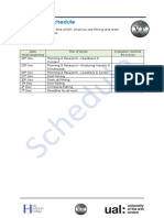 production schedule for ad