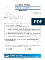 NEET 2019 Chemistry Sample Question Paper II