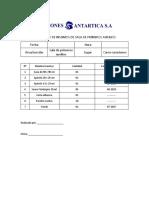 Inventario de Insumos de Sala de Primeros Auxilios