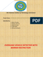 Overload Vehicle Detector With Barrier Restriction