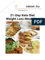 21 Day Keto Weight Loss Meal Plan Free