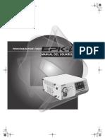 manual vídeo endoscopio
