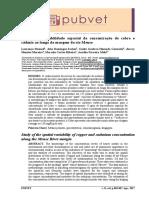Estudo Da Variabilidade Espacial Da Concentração de Cobre e