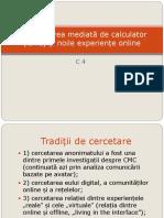 C4 Comunicarea Mediata de Calculator Si Noile Experiente Online