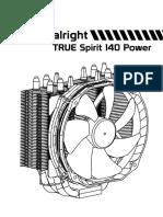 TS-140 Power   Thermalright True Spirit 140 Power manual