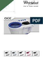 Ace 8 Turbodry User Manual