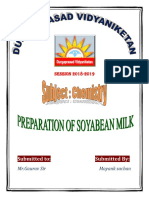 Preparation of SOYABEAN MILK