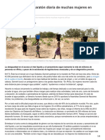 Acarrear agua, la maratón diaria de muchas mujeres en África (esGlobal, 22-03-17, África)