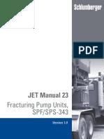 Schlumberger JET Manual 23 Fracturing Pump Units