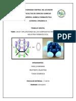 Usos y Aplicaciones de Los Compuestos Aromaticos en La Industria Farmaceutica