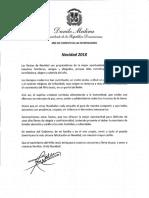 Mensaje del presidente Danilo Medina con motivo de la Navidad 2018