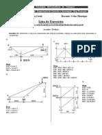 Lista de Execícios III Unid (Treliça) - Mecânica Geral