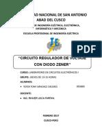 Circuito Regulador de Voltaje Con Diodo Zener