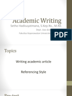 Academic Writing-EIN 1