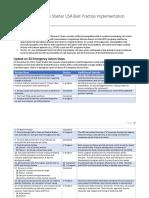 ARC Best Practice Implementation Progress Report