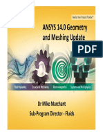 Ansys 14.0 Geometry and Meshing Update