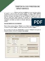 Manual para hacer un tríptico en Open Office