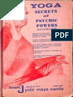 Yoga Secrets of Psychic Power - Swami Jyotismayananda (1)