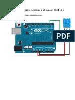 Conexiones Entre Arduino y El Sensor DHT11 o DHT22