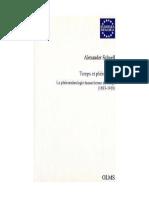 Alexander Schnell Temps et Phénomène. La phénoménologie husserlienne du temps 1893-1918.pdf