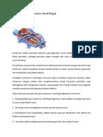 Tugas Pompa & Kompresor - Kompresor Sentrifugal