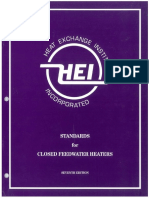 Standard for Closed Feedwater Heaters
