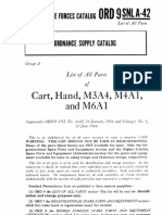 Ord 9 Snl a-42 Cart, Hand,m3a4,m4a1 and m6a1