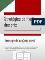 Stratégies de Fixation Des Prix (1) Power Point