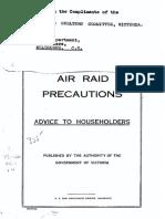 Air Raid Precautions - Advice to Householders
