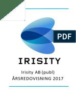 Arsredovisning 2017 Irisity AB Publ