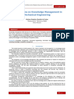 Contributions on Knowledge Management in Mechanical Engineering