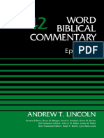 Word Biblical Commentary 42 Ephesians, Volume 42 - Andrew T. Lincoln