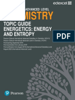 Chemistry Topic Guide Energetics Energy and Entropy