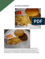 Mas Sobre Las Happy Meal de McDonald's