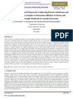 Synthesis of Nitrate Doped Polypyrrole Conducting Polymer Membrane and Fabrication of Passive Sampler to Determine Diffusion of Nitrate and Chloride Through Membrane in Aquatic Ecosystem