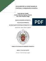 Aplicación de predicción en bolsa basada en indicadores técnicos y computación evolutiva