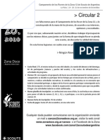 "Circular 2 - Campamento Rover Zonal - CaRoZo 2010 ""Sirviendo con mi Zona"""