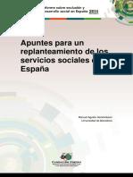 Apuntes para un replanteamiento de los servicios sociales en España