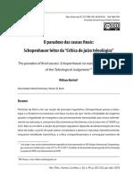 """Mattioli, O paradoxo das causas finais. Schopenhauer leitor da """"Crítica do juízo teleológico"""".pdf"""