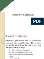 2. Descriptive Methods