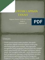 EKSPLOITASI LAPISAN TANAH