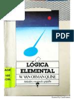 Lógica Elemental-W. V. O. Quine