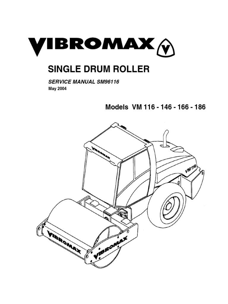 JCB VIBROMAX VM146 Single Drum Roller Service Repair