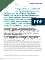Antiaritmički Lijekovi - Klinička Upotreba