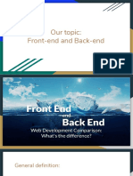 Our Topic_ Front-End and Back-End