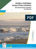 Analyse Statistique Des Niveaux d'Eau Extrêmes Environnements Maritime Et Estuarien