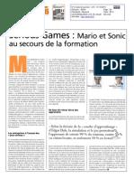 21102010 - Le Journal des Télécoms - Serious games
