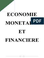 Economie Monetaire Et Financiere