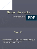 Gestion_des_stocks Formule de Wilson