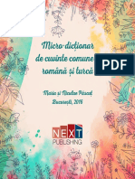 Micro Dictionar de Cuvinte Comune Turca Romana